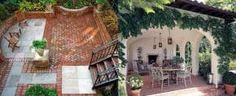 Top 50 Best Exterior House Paint Ideas - Color Designs Backyard Retreat, Backyard Patio, Backyard Landscaping, Backyard Layout, Landscaping Ideas, Brick Design, Patio Design, Backyard Designs, Facade Design