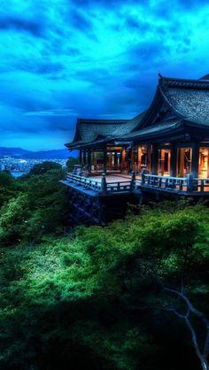 Kiyomizu-dera,  Kyoto, Japan**.  This temple sits in the clouds.  Very spiritual.