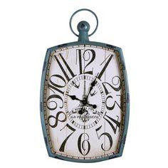 "Adeco Trading Vintage-Inspired Pocket ""Bonbons Fins"" Wall Hanging Clock"