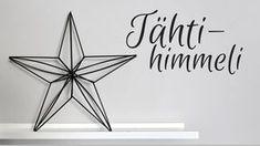Himmeli tutorial, pillihimmeli, straw himmeli, star himmeli, tähtihimmeli
