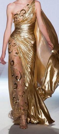 Zuhair Murad Gold Goddess Gown