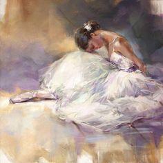 'Sleeping Beauty II' by Anna Razumovskaya Ballet Drawings, Art Drawings, Ballerina Kunst, Anna Razumovskaya, Ballerina Painting, Dance Paintings, Ballet Art, Ballet Photography, Art Graphique