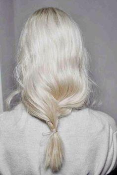 Whiteish silver hair