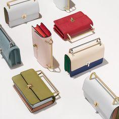 Lennox (Coral) Women's Leather Crossbody Bag w/Gold Hardware | Botkier
