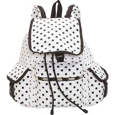 LeSportsac Voyager Backpack ($120) ❤ liked on Polyvore featuring bags, backpacks, school & day hiking backpacks, white, backpacks bags, locking backpack, white bags, mesh backpack and lesportsac backpack