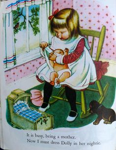 MY DOLLY & ME~the last five pages of My Dolly and Me by Eloise Wilkin