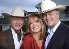 DALLAS (TNT Channel) - The Ewings return with a new 2012 edition of the popular TV series - Pictured (l. to r.) - Larry Hagman -Linda Gray -  Patrick Duffy.