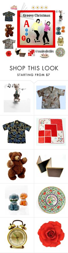"""""""Groovy Christmas A GO GO"""" by seasidecollectibles ❤ liked on Polyvore featuring Monsoon, Prada, 1970s, polyvoreset and etsyevolution"""