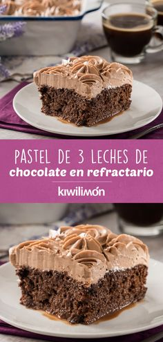 If you love the traditional cake then you should try this Chocolate Cake in Refractory. Enjoy this delicious dessert of bitter chocolate. The secret is the bitumen made with hazelnut cream, a touch that looks great with this combination. Just Desserts, Delicious Desserts, Yummy Food, Just Cakes, Cakes And More, Cake Recipes, Snack Recipes, Dessert Recipes, Scones Ingredients
