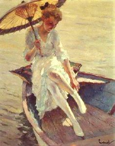 American Impressionist Painter - Edward Cucuel (1875-1954). Our guest artist for the day.