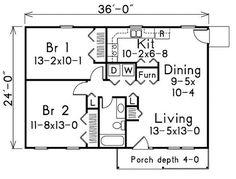 Plano de casa estilo rancho