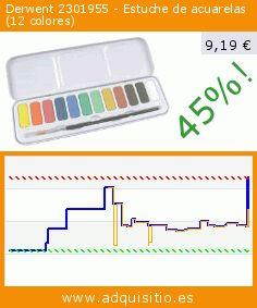 Derwent 2301955 - Estuche de acuarelas (12 colores) (Juguete). Baja 45%! Precio actual 9,19 €, el precio anterior fue de 16,67 €. http://www.adquisitio.es/derwent/2301955-estuche-acuarelas