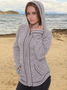 Gray Alpaca Sweater - Andean Cross