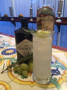 #SeasonalCocktails The Simple Truth #HendricksGin #ChileanGrapes, #Rosemary, Harvest Bitters, San Pellegrino & Lemon Twist