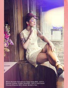Paper Doll Vintage Boutique Spring 2013 Look Book @Elizabeth Dispigno @Shannon Clyne #vintage #fashion #lookbook #mod #brocade #sayville #vintagefashion #gogo #highfashion #fancypants #designer #paperdollvintage #paperdollvintageboutique #makeup #coolmakeup #psychadellic #girl #girlswithtattoos #girlswithpiercings #pretty
