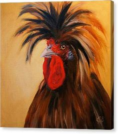 Shop for oil art from the world's greatest living artists. All oil artwork ships within 48 hours and includes a money-back guarantee. Choose your favorite oil designs and purchase them as wall art, home decor, phone cases, tote bags, and more! Rooster Painting, Rooster Art, Hen Chicken, Chicken Art, Polish Rooster, Polish Chicken, Chicken Painting, Animal Paintings, Pastel Paintings