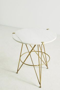 Betelline Marble Side Table from Anthropologie