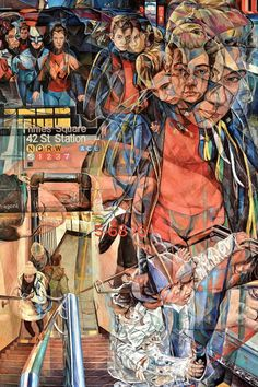Artist Clive Head captures the often dizzying urban environment in his multi-perspective oil paintings.