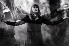 English Photographer Katie Eleanor | beautifully eerie | spooky | ghosts | dancing in the woods| mystical | pretty young ghost | afterlife | spirit world | black & white photography | www.republicofyou.com.au