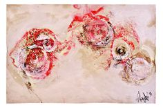 Red Ink II (acrylic, oil, ink on paper, 2014) | by Beatrice Zagato | Bologna Art Fair 2014.
