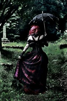 Portrait idea in cemetery.