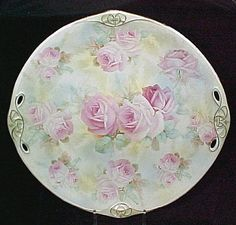 Royal Bayreuth Rose Tapestry Cake Plate