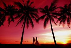 - Sunset photo at Seminyak -  Wedding dress photo tour at Seminyak beach, Bali.