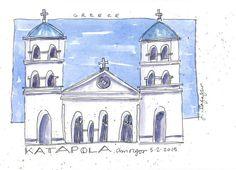 Katapola aquarelle originale par janeville sur Etsy