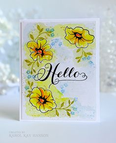 Water colored Altenew ~ Whimsical Flowers