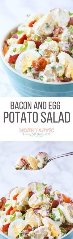 Potato Salad with Bacon and Egg