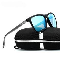 Fashion Men's Ladies Polarized Sunglasses Alloy Square Sun Glasses Driving Shades Eyeglasses UV400 Hard Resin Lens Spectacles