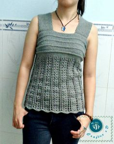 crochet wide strap tank top size M free - for all sizes pattern is $1.00
