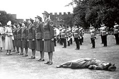 Princess Elizabeth inspects a guard of honour by the Women's Royal Army Corps, 1949