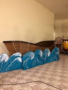 Cardboard Boat for Easter Play Vbs Themes, Ocean Themes, Vbs Crafts, Bible Crafts, Boat Props, Party Deco, Jonah And The Whale, Moana Party, Vacation Bible School