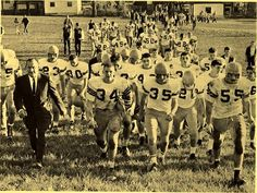 Roger Bacon FB w/ Coach Bacevich and team circa 1960's
