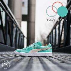 Puma makes sure you have some color in your life with the Pastel pack. This pack consists out of three pair of Puma Suedes in baby blue, pastel pink and mint green. This specific pair rocks a baby blue colorway with creme hits as a nice detail.  Now online available | Priced at 99.99 EU | Wmns Sizes 36 - 42 EU