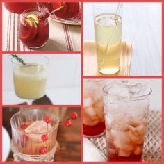 15 HOLIDAY COCKTAILS to Get the Party Started! {Cranberry Sangria via @Coastal Living // Ginger Sparkler via @Martha Stewart // Pomegranate Gin Fizz by @The Kitchn // Cranberry Old Fashioned by @Emily Schuman / Cupcakes and Cashmere // Cinnamon Pear Fizz by @Samantha / Could I Have That } + 10 MORE!
