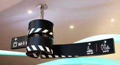 Cinema City Mall | Wayfinding by Studio Amir Zehavi #signage #curve