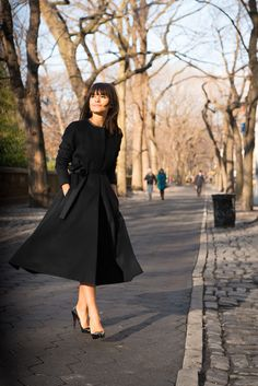 Miroslava Duma at Central Park. Would be interested in seeing this in softer colors too.