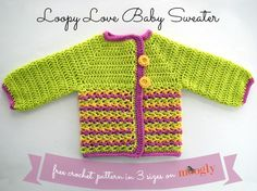 Loopy Love Baby Sweater - C