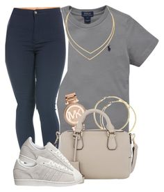 """""""❤️"""" by queen-jamii ❤ liked on Polyvore featuring beauty, Ralph Lauren, Michael Kors, Smythson, adidas and Lana"""