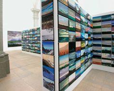 """Olivier Masmonteil, Installation View for """"Quelle que soit la minute du jour"""", Chapelle de la Visitation, Espace d'art contemporain Thonon-les-Bains, France, 2010"""