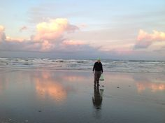 Beach combing in the evening glow. Cottages Ireland, Luxury Holiday Cottages, Luxury Holidays, Night Skies, Irish, Sunrise, Glow, Clouds, Sky