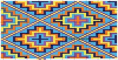 192 squares when each box, 24 increase base, also would make the top row like the second left square Tapestry Crochet Patterns, Bead Loom Patterns, Beading Patterns, Cross Stitch Patterns, Crochet Chart, Diy Crochet, Mochila Crochet, Tapestry Bag, Native Beadwork