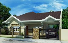 House Design Bungalow Style The Best Bungalow Styles And Plans In Philippines Bahay Top Modern Bungalow Design Architecture Bungalow House Bungalow Style House Plan 2 Beds 1 Baths Modern Bungalow House Design, Bungalow Style House, Simple House Design, Bungalow House Plans, Small House Plans, Bungalow Exterior, Bungalow Homes, Modern Houses, Ranch Home Floor Plans