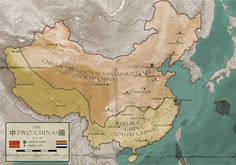 Divided China by RvBOMally on DeviantArt Changsha, Alternate History, Capital City, Geography, Vintage World Maps, Divider, China, Countries, Alternative