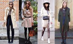 Foto: Reprodução / Blog da Thássia | Glam4you | Cats & Dogs | Halcyon Velvet Trench, Coat, Jackets, Fashion, Coats, Panty Hose, Fashion Hacks, Woman Clothing, Winter Time