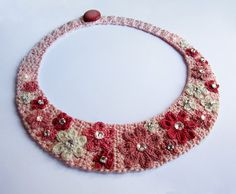 Log in to your Etsy account. Crochet Panda, Pink Flowers, Diy Jewelry, Crochet Necklace, Beaded Bracelets, Textiles, Diamond, Gems, Fashion