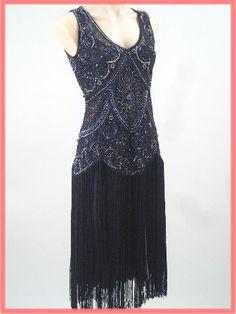 1920s Style Beaded Black Fringe  I think this is my Fav