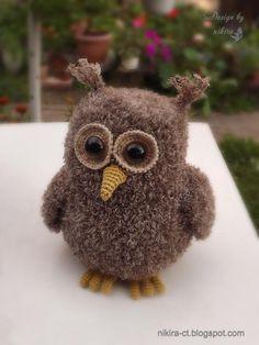 Nikira. Вязаная игрушка: Free owl pattern (in russian)/Сова описание, схема вязания совы